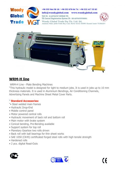 WRM-H Line Plate Bending Machine